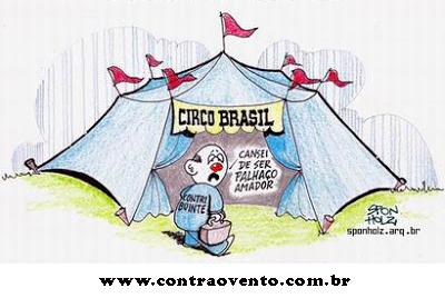 Resultado de imagem para circo bolsonaro - charges